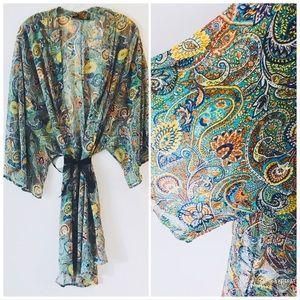 HONEY PUNCH Paisley Pattern Boho Kimono